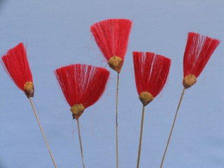 Wachlarzyki sizalowe 3 sztuki kolor czerwony
